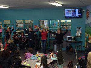 flashmob at Gabriela Mistral